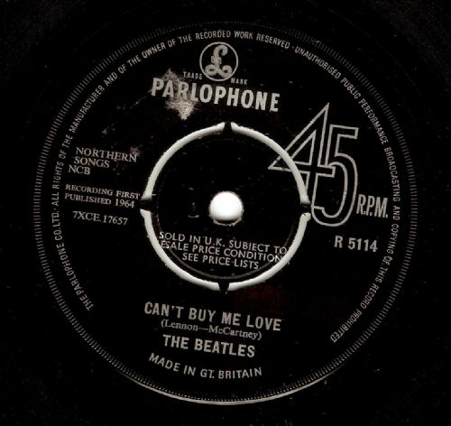 THE BEATLES Can't Buy Me Love Vinyl Record 7 Inch Parlophone 1964